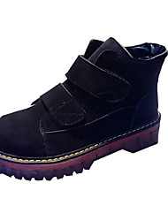 Women's Boots Spring / Fall / Winter Others Leather Dress / Casual Low Heel Fur / Hook & Loop Black / Brown Others