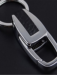Men 'S Metal Keychain Creative Custom Business Deduction Leather Car Key Ring