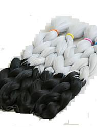Box Braids crochet braid Box Braids ombre Hair kanekalon 24inch 3pcs Synthetic Braiding Hair Extensions