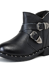 Boys' Boots Comfort Leather Casual Black Yellow