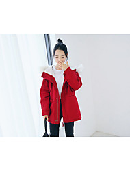 [Photos] Model # 585 College Wind cotton Girls long paragraph solid color cotton long-sleeved jacket collar Nagymaros