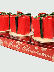Vela do Natal 3pcs forma bonito presente pequeno