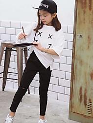 Mädchen Hose-Lässig/Alltäglich einfarbig Baumwolle Frühling Schwarz / Blau / Weiß
