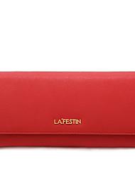 LaFestin® Femme Cuir de Vache Porte-chéquier Bleu / Rouge / Noir / Fuchsia / Champagne-618714