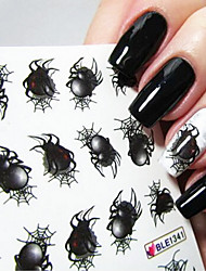 Water Transfer Printing Bardian Spider Pattern Nail Art Stickers