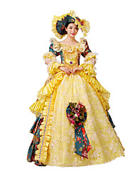 One-Piece/Dress Gothic Lolita / Sweet Lolita / Classic/Traditional Lolita / Punk Lolita Steampunk® Cosplay Lolita Dress Yellow Floral