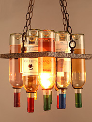 Creative Vintage Industrial Loft Glass Bottles Pendant Lights Living Room Dining Room Kitchen Cafe Light Fixture Included Glass Bottles
