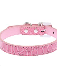 Dog Collar Adjustable/Retractable / Running / Hands free / Cosplay / Casual Leopard Red / Black / White / Blue / Pink PU Leather