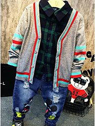 Boys' Casual/Daily Solid Clothing Set,Cotton Spring Fall Long Sleeve Long