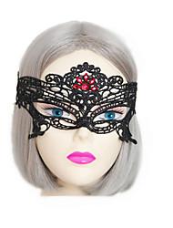 1pc Halloween bandeau sexy ornements de masque en dentelle noire