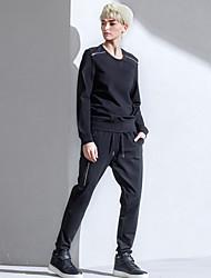 De las mujeres Pantalones Chinos-Simple Rígido-Algodón / Nailon / Licra