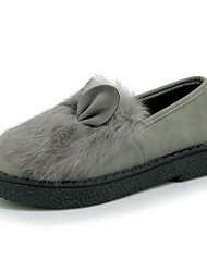 Women's Loafers & Slip-Ons Spring / Fall Comfort PU Dress / Casual Flat Heel Slip-on Black / White / Gray Others