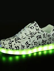 Masculino-Tênis-Conforto Light Up Shoes Shoe luminous-Rasteiro--Couro-Casual
