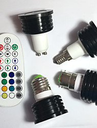 5pcs 4W E14/GU10/E26/E27/B22 RGB LED Spotlight Dimmable/Music-Controlled /Remote-Controlled / LED light AC 85-265V