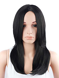 Long Straight Hair Black Color Synthetic Wigs for Women
