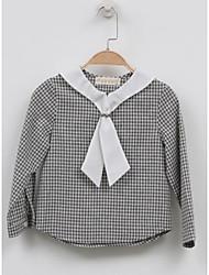 Girl's Casual/Daily Check ShirtCotton Fall Gray