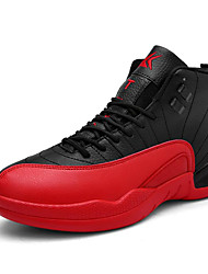 Men's Sneakers Spring / Summer / Fall / Winter PU  Split Joint / Lace-up Black / Blue / Red / White Basketball