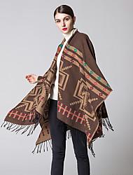 NITE OWL Women Polyester ScarfCasual RectangleRed / Black / Blue / Brown / Yellow / GrayJacquard-536675241920