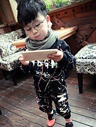 Boy's Casual/Daily Print Clothing SetCotton Winter / Fall Black