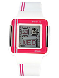 Women's Kids' Sport Watch Calendar Water Resistant / Water Proof Stopwatch Digital Rubber Band White