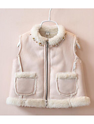 Girl's Casual/Daily Solid VestCotton Winter / Fall Pink