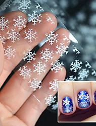 4CMX100CM Nail Foils White Snowflake Nail Art Transfer Foils Transfer Sticker