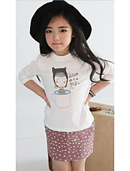 Girl's Casual/Daily Solid ShirtCotton Spring / Fall White