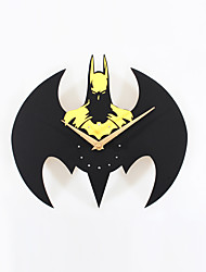 Modern Style Creative Fashion Batman Mute Wall Clock
