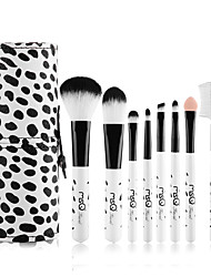 MSQ/Spirit's Silk Chloe Cows Mini Makeup Brush Set Eight Short Rod Makeup Tools Beginners Safari Suit
