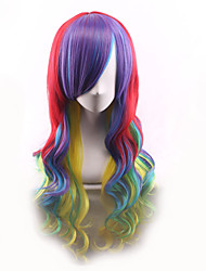 Cheap Wigs Heat Resistant Wig Cosplay Ombre Color Synthetic Wigs