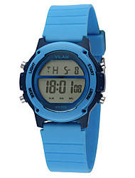Vilam Kids' Sport Watch Quartz Large Dial Silicone Band World Map Multi-Colored Yellow Blue