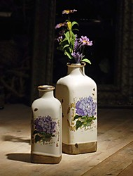 American country Set of vase  Ceramic arts and crafts A set of two