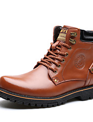 Men's Boots Fashion Boots/Leather Casual Low Heel/Wor Shoes / Lace-up Black/Brown/Hot Sales