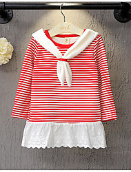 Girl's Casual/Daily Striped Dress / Overall & JumpsuitCotton Winter / Fall Black / Red