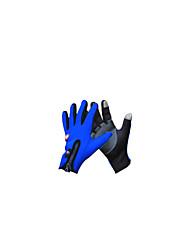 noter le bleu m gants de fermeture à glissière unique anti-dérapant cyclisme gant avec de la laine d'hiver en plein air