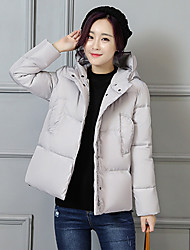 Sign Korea new winter clothes Korean version of the solid color hooded bread cotton padded thick new female was thin 912
