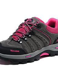 Femme-Extérieure Sport-Gris Pourpre foncéConfort-Chaussures d'Athlétisme-Daim