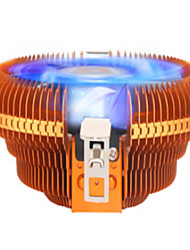 cpu com ventilador do radiador de luz