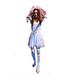 Women Zombie Costumes Corpse Bride Halloween Costume Fancy Party Dress Adult Vampire Cosplay