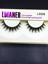 Full Strip Lashes Eyes Thick Handmade mink hair eyelash Black Band 0.10mm 12mm LD206