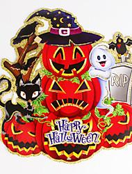 1pc hallowmas potirons stickers muraux décorent hallowmas fête costumée