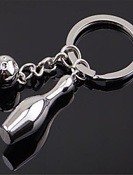 Bowling Bottle Key Chain Creative Bowling Souvenirs Metal Car Key Ring