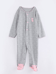 Baby Casual/Daily Polka Dot One-Pieces,Cotton Fall Long Sleeve