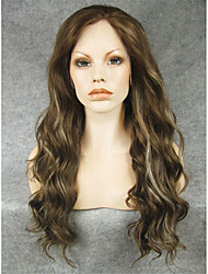 IMSTYLE 24''Beautiful Brown Blonde Mix Synthetic Lace Front Wigs China Suppliers