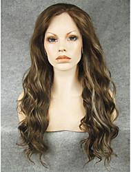 imstyle 24''beautiful коричневый передний блондинка микс синтетические парики шнурка китайского поставщиков