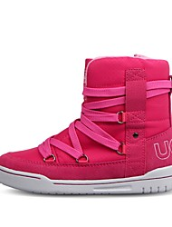 Girl's Boots Fall / Winter Others / Comfort PU / Suede Casual Flat Heel Zipper / Lace-up Pink Others