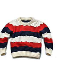 Casual/Daily Striped Sweater & Cardigan,Cotton Winter Spring Fall Long Sleeve