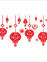Wall Stickers Wall Decals Style Fireworks Lantern PVC Wall Stickers