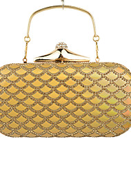 Women Poly urethane Formal / Event/Party / Wedding Evening Bag/Clutch/Purse/Party/Diner/Black/Gold/Silver