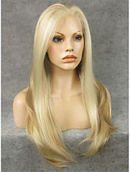IMSTYLE 24''Elegant Long Natural Straight Synthetic Lace Front Wig